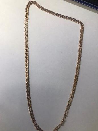 Золотой цепь с кулоном