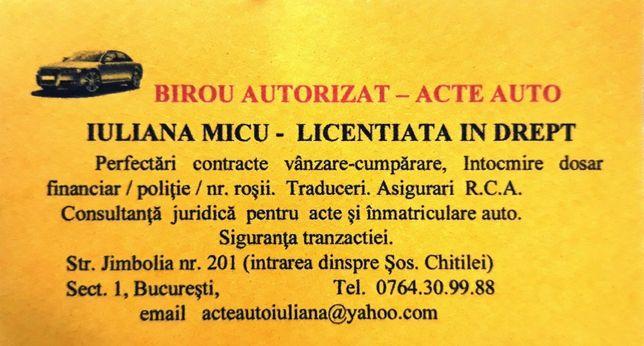 Birou autorizat Acte Auto Bucuresti
