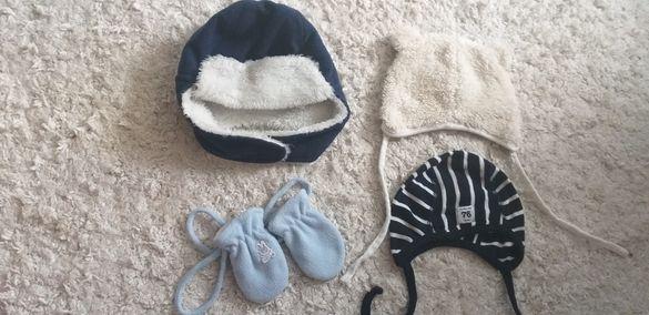 Benetton шапка и ръкавици