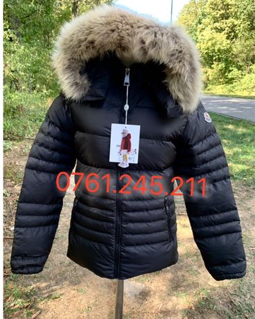 Geaca Moncler Dama scurta blana naturala made in Romania