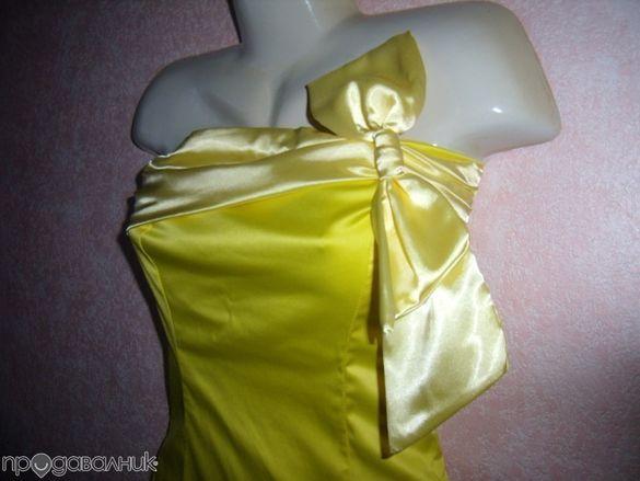 СВЕЖА жълта рокля - НАМАЛЕНА на 35 лв.