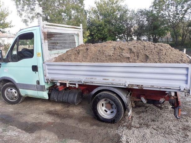 Transport basculabil nisip, pietriș, beton semiuscat lemn de foc etc