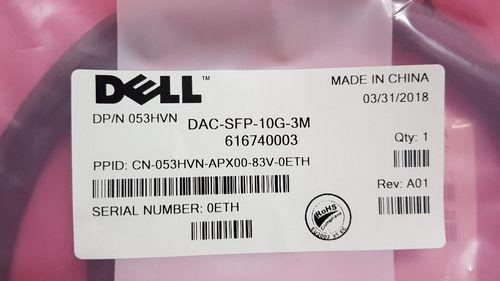 Dell DAC-SFP-10G-3m 053HVN кабель, патч корд, интерфейсный 10 гигабит