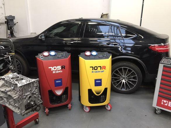 Автосервиз.Зареждане и допълване с фреон R134 и R1234 на автоклиматици