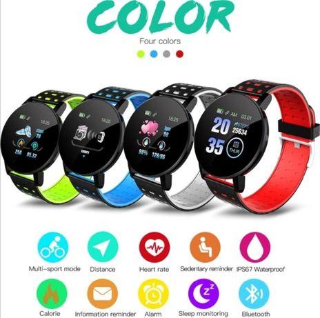 Смарт часовник 119 PLUS, кръвно, пулсомер, оксиметър, smart watch