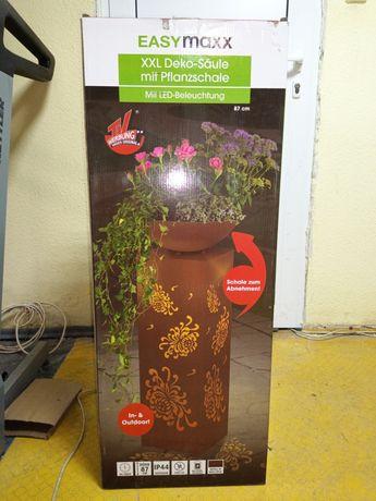 Голяма LED ваза, от метал с нежно вътрешно осветление Easy Maxx