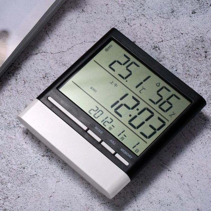 Электроприбор Гигрометр+Термометр+Часы для дома. Доставка Нур-Султан (Астана) - изображение 1