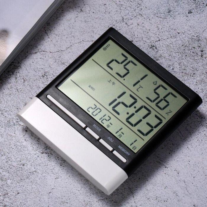 Электроприбор Гигрометр+Термометр+Часы для дома. Доставка