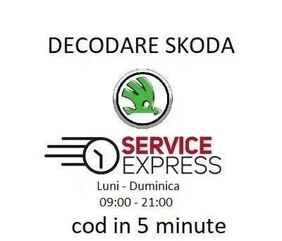Radio decodez decodare Skoda Navigatie Swing Bolero Stream Cod pin cd