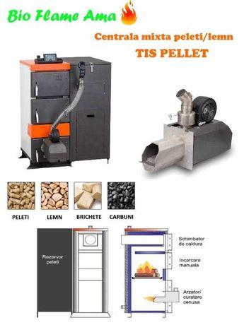 Centrala mixta peleti/lemn TIS Pellet