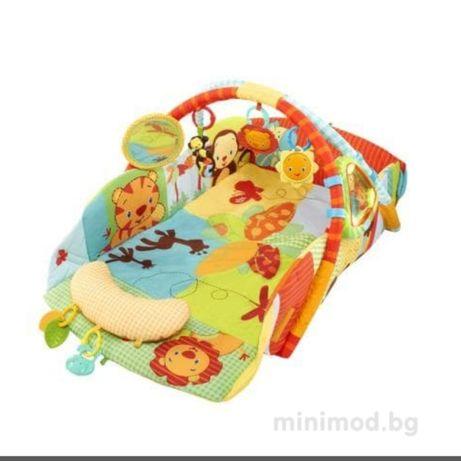Музикална интер активна гимнастика килимче за бебе Bright Starts