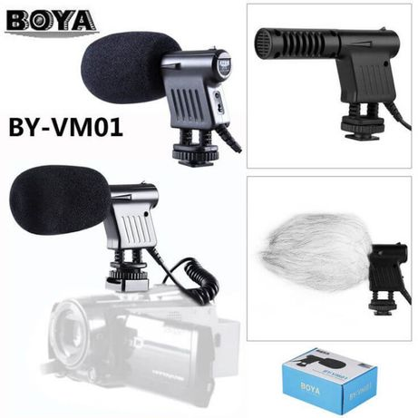 Microfon Boya BY-VM01 Unidirectional pt camera foto, DSLR, Mirrorless