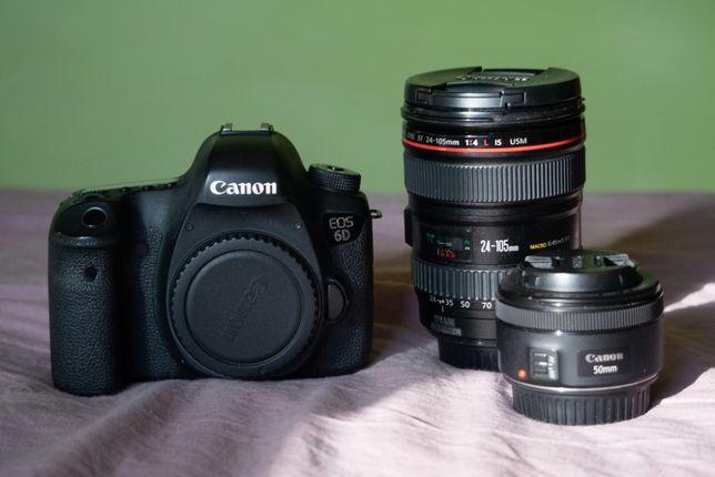 Canon 6D + Canon 24-105 mm + Canon 50mm