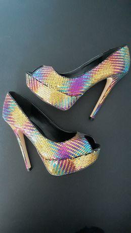 Pantofi Peep-Toe ALDO cu Paiete Multicolore 36