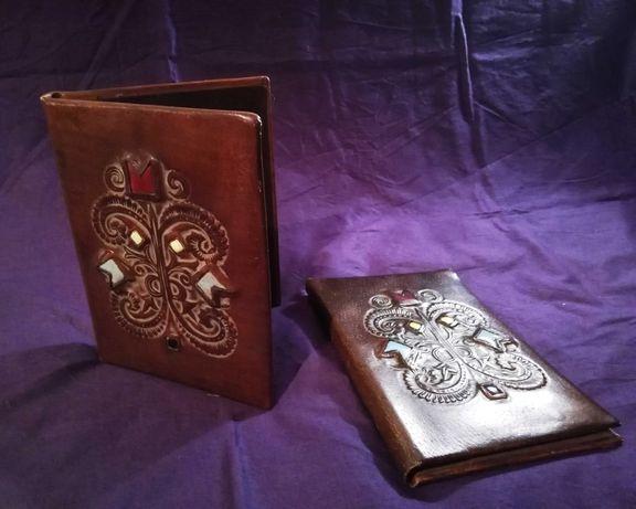 Обложки (папки) за тефтер от естествена кожа с уникални мотиви
