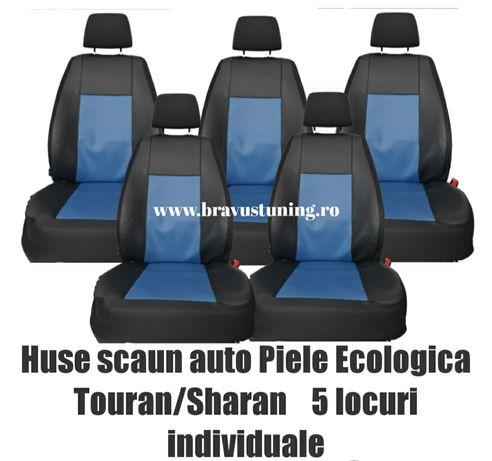 Huse scaun auto DEDICATE  Touran/Sharan 5 locuri piele ecologica