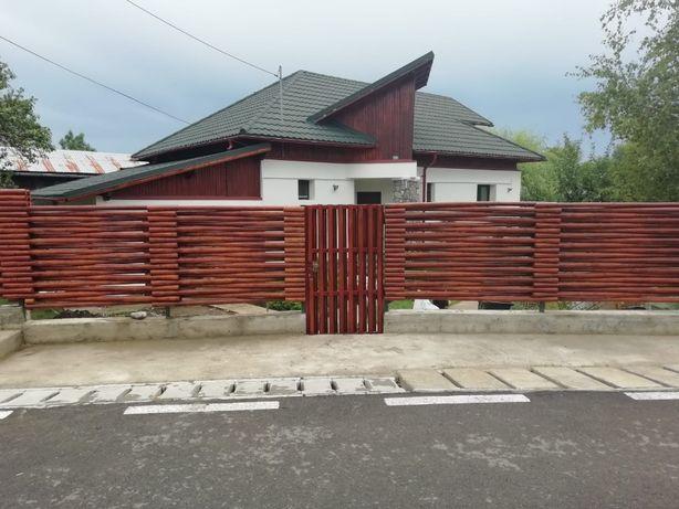 Gard din lemn calibrat pe rotund