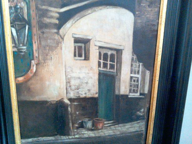 Tablou pictură veche, semnat Scorțesco, ulei/pânză, în ramă de epocă