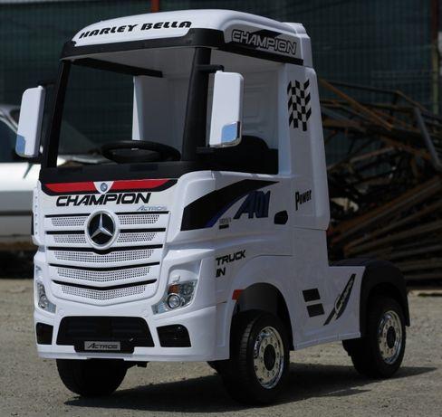 Camion electrica pentru copii Mercedes Actros 4x35W 12V 14Ah #White
