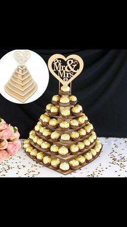 Сватбена поставка за бонбони