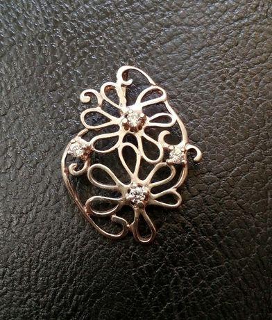 Уникална сребърна висулка дизайнерска с циркони-нова-изгодно!!!