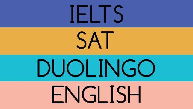 IELTS, SAT, Duolingo, general english
