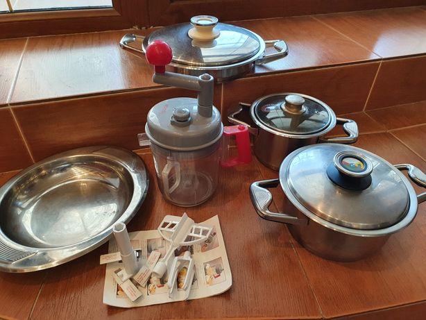 Посуда Zepter комплект (кастрюля 2 шт, сковорода + блюдо и комбайн)