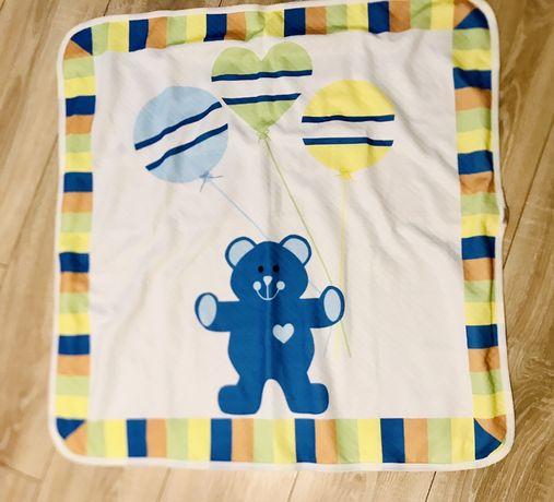 Ново бебешко одеало одеалце с мече в синьо жълто