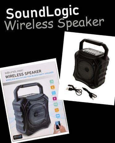 Bluetooth колона Soundlogic с радио, хендсфри, вход за микрофон, USB в