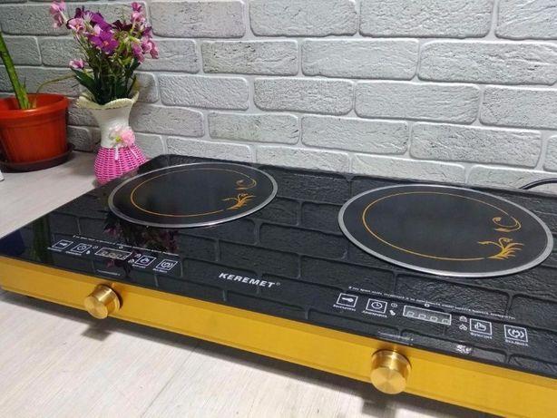 Мощная электрическая двойная плита + доставка до двери!