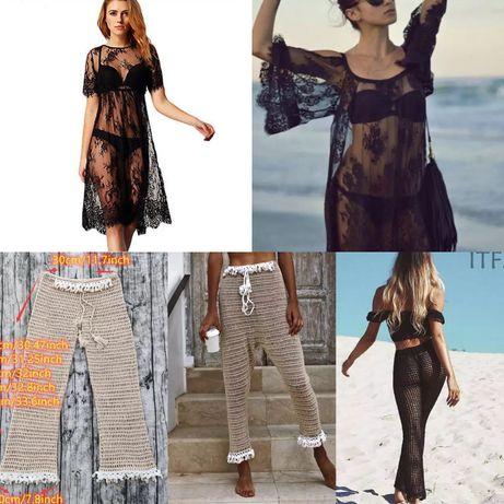 НОВА плажна рокля и плетeн плажен комплект
