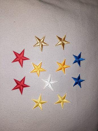 Set oricare 4 stelute stickere panza pentru haine, lipire sau coasere