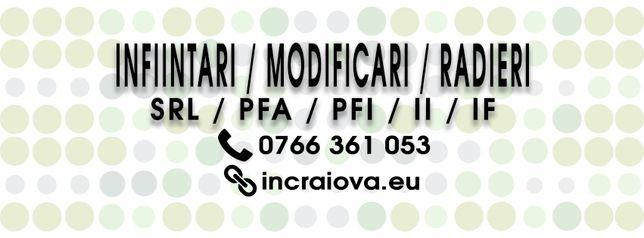 INFIINTARE FIRMA URGENT: Craiova, Filiasi, Bailesti, Calafat, Dabuleni