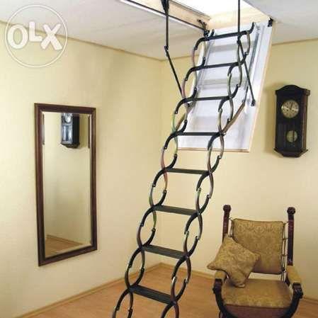 Таванска стълба,комбинирана таванска стълба с капандура чисто нова