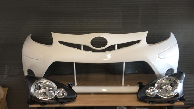Pachet Bara + Faruri Dreapta&Stanga Toyota Aygo 2006-2012 (C062 (Alb))