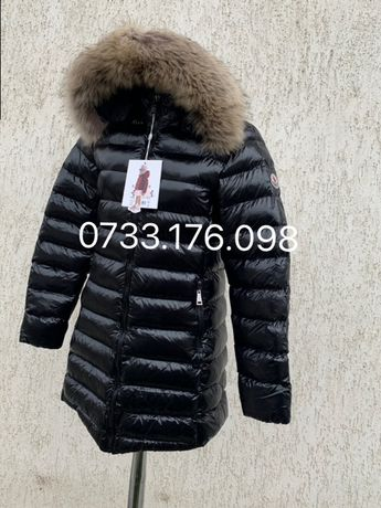 Geaca Moncler Original lucioasa lunga dama made in Romania