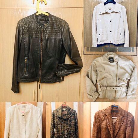 Кожено яке и бяло яке Massimo Dutti, сако Calliope, Capasca и Zara