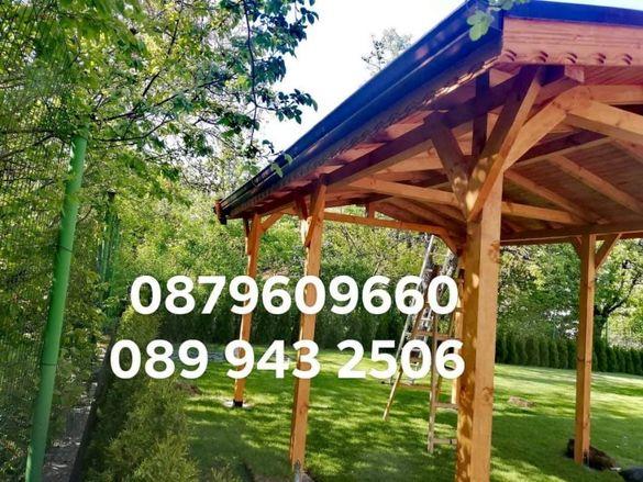 Дървени навеси беседки гаражи барбекюта тераси. Гаранция и качество.