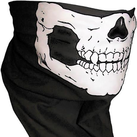 Черная балаклава/бандана/бафф/маска с черепом, с доставкой