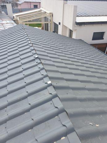 Reparatii acoperisuri montaj tigla metalica bilka toate grosimile