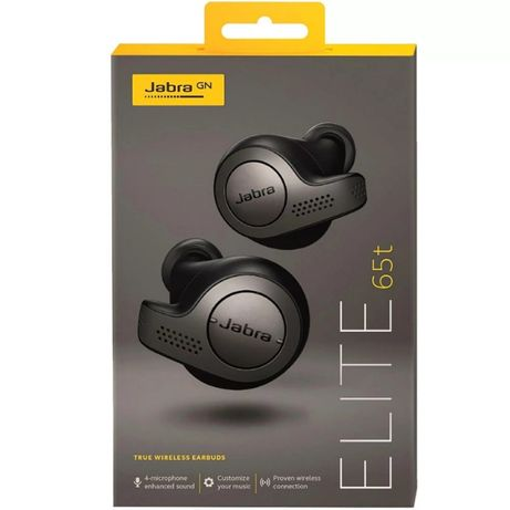 Casti JABRA Elite 65t True Wireless Bluetooth In-Ear Negru nou sigilat