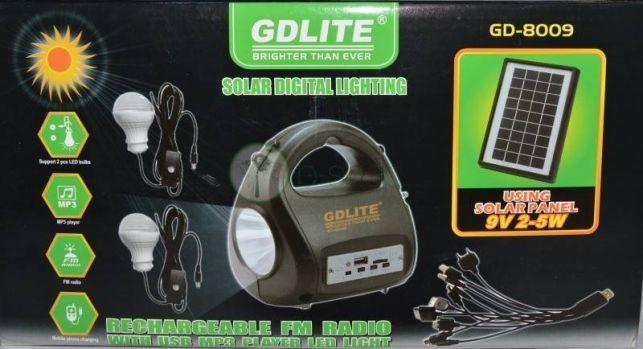 Kit sistem solar Gdlite GD-8009,slot usb,radio FM,