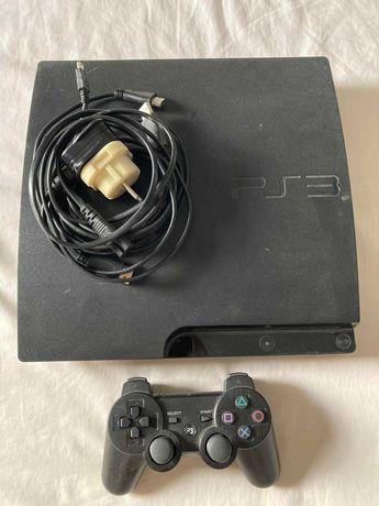Sony Playstation 3 Slim с 18 оригинални игри на дискове