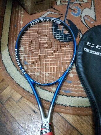 Racheta tenis de camp DUNLOP stare foarte buna cu grip si overgrip nou
