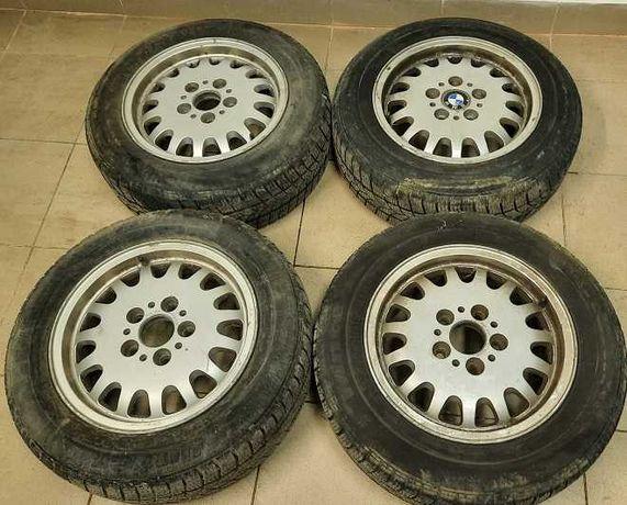 Алуминиеви джанти BMW 15 цола 5х120 БМВ 4 броя с зимни гуми