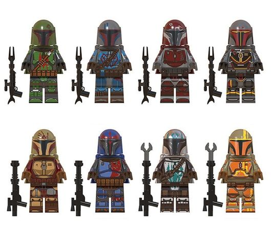 Set 8 Minifigurine tip Lego Star Wars cu Mandalorians pack2
