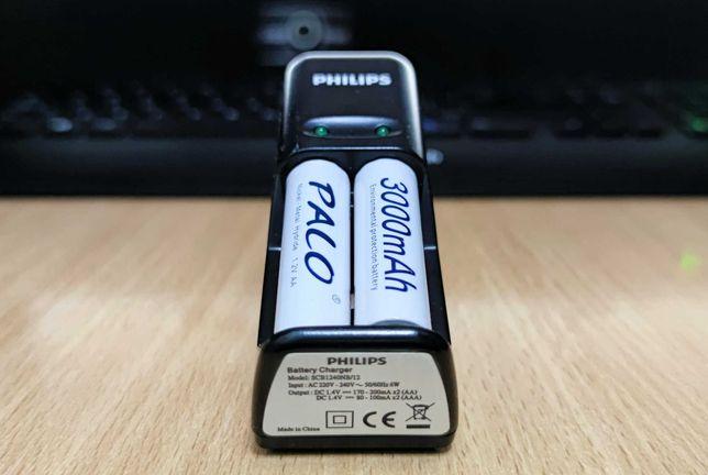 Incarcator Philips Mini SCB1240NB + 2 acumulatori PALO 3000mAh