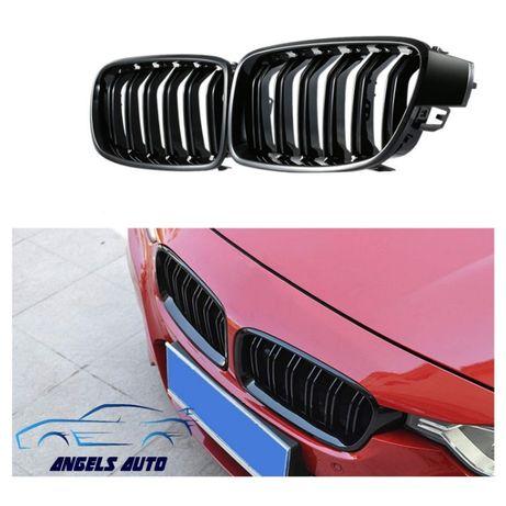 Grile M BMW Seria 3 F30 2011+ Negru Mat Duble M Design