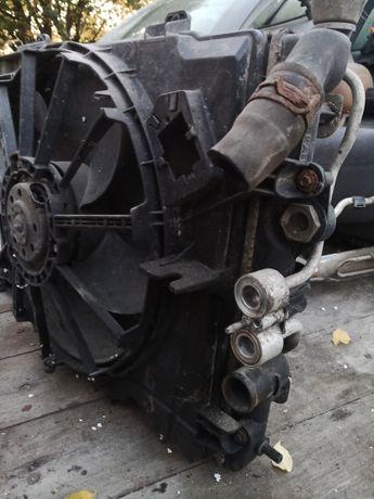 Radiator răcire-radiator ac și ventilator Megane 1 an 2000 - 1.9 dti