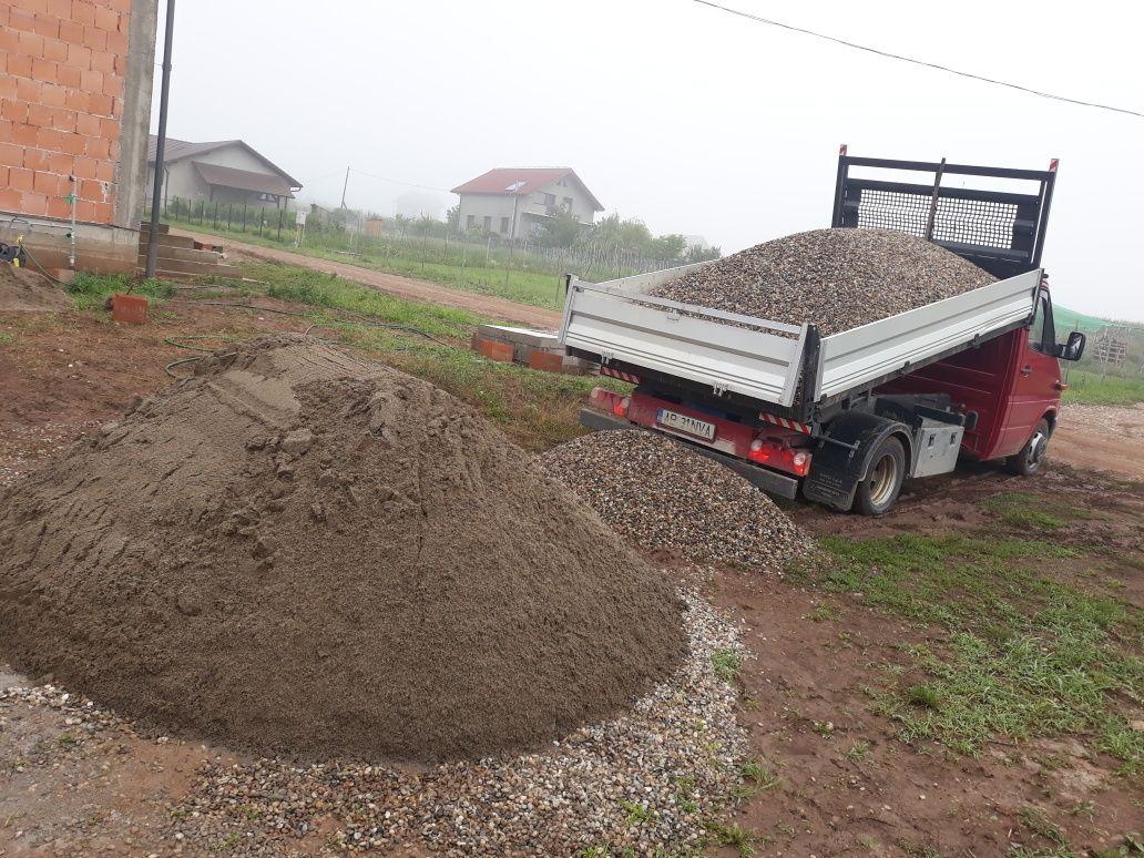 Transport sort,balastru,nisip cu camioneta